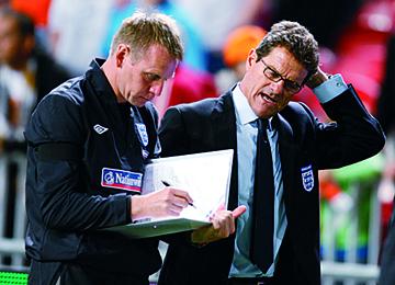 Stuart Pearce with Fabio Capello