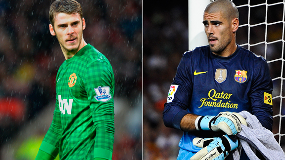 Valdes or De Gea? It's over to Van Gaal